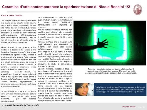 Nicola Boccini, Art Report, rivista d'arte digitale