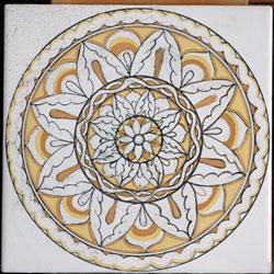 decorazione con ossidi per ceramica