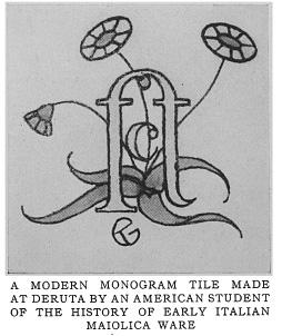The Majolica-Makers of Deruta, ceramic article since 1919