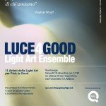luce4good mostra di light art Milano