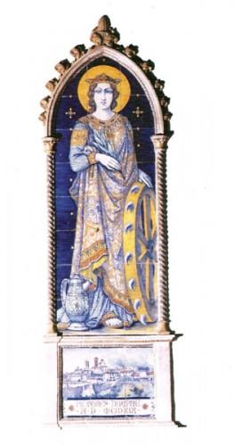 Santa Caterina d'Alessandra, patrona dei ceramisti