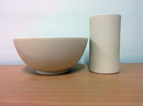 vaso e cilindro in gres biscottato