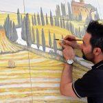pittura su maiolica