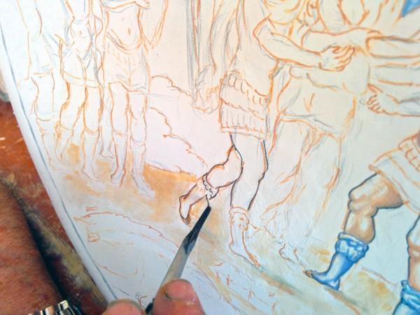 Painting Overglaze